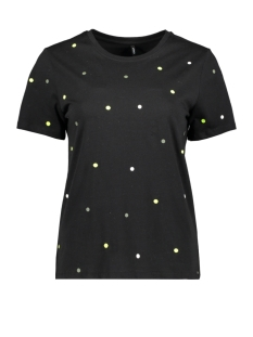 Only T-shirt ONLKITA S/S STAR/DOT TOP BOX JRS 15218041 BLACK/DOT