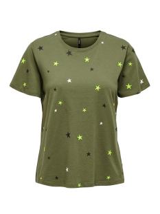 Only T-shirt ONLKITA S/S STAR/DOT TOP BOX JRS 15218041 KALAMATA/STAR