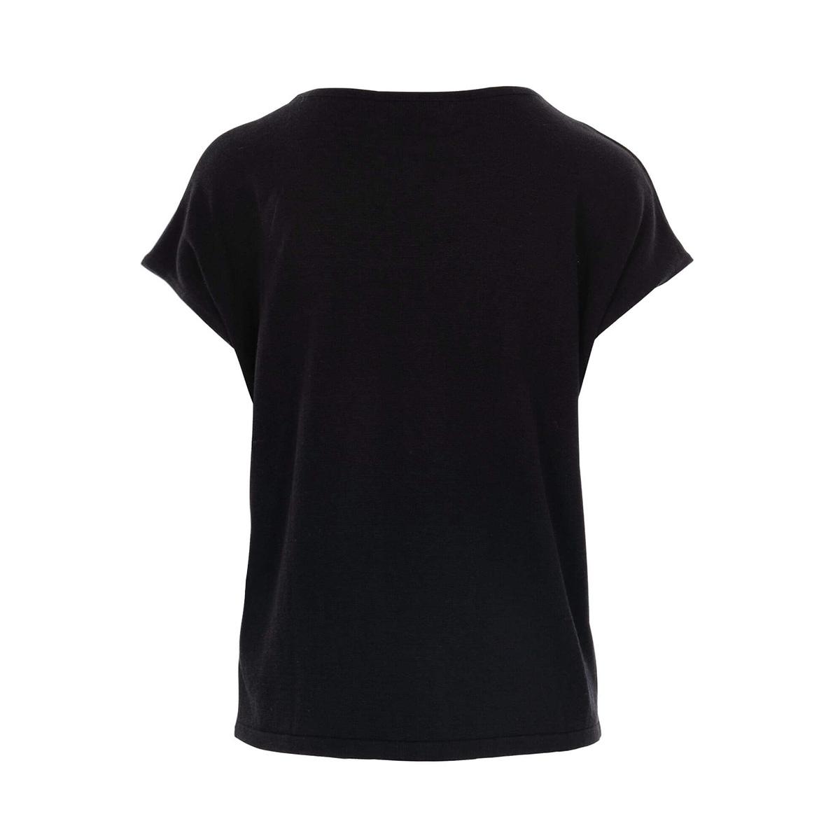 fijngebreide top 0304 006 0000 zusss t-shirt zwart