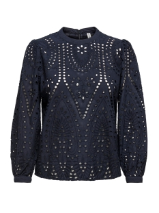 Only Blouse ONLNYLA 7/8  EMB ANGLAISE DNM BLOUS 15195423 Night Sky