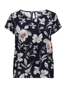 Only T-shirt ONLFIRST ONE LIFE SS AOP TOP NOOS W 15198608 Night Sky/FLOWER LEA
