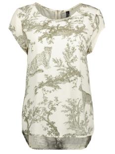 onqvika ss top wvn 15203630 only t-shirt white swan/animal kal