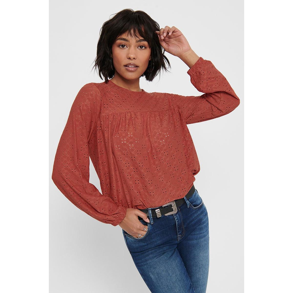 jdycathinka l/s top jrs 15198620 jacqueline de yong blouse hot sauce