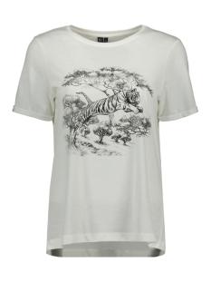 Vero Moda T-shirt VMSAFARI S/S PRINTED T-SHIRT VIP GA 10232304 Snow White/TIGER