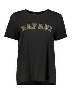 Vero Moda T-shirt VMSAFARI S/S PRINTED T-SHIRT VIP GA 10232304 Black/SAFARI