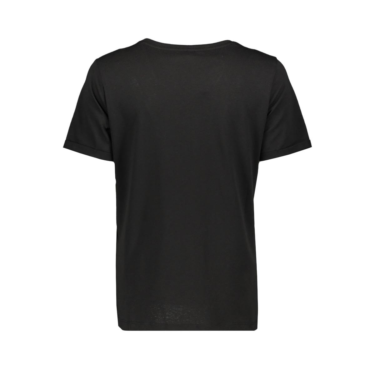 vmsafari s/s printed t-shirt vip ga 10232304 vero moda t-shirt black/safari