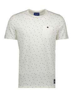 jortonne tee ss crew neck 12168916 jack & jones t-shirt cloud dancer/slim