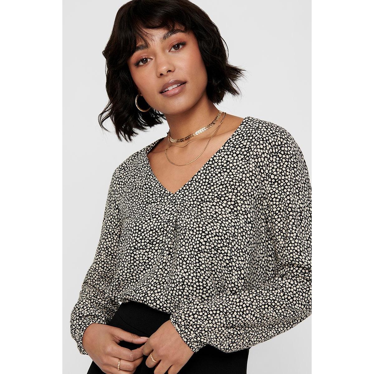 jdystarr life l/s top wvn 15198151 jacqueline de yong blouse black/sandshell