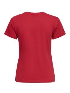 jdyhappy life s/s print top denim j 15193943 jacqueline de yong t-shirt scarlet sage/white wave