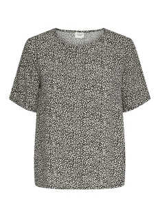 Jacqueline de Yong T-shirt JDYSTARR LIFE S/S TOP WVN 15198129 Black/SANDSHELL