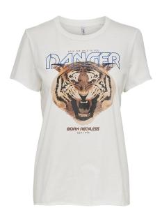 onllucy life fit s/s animal top box 15203582 only t-shirt cloud dancer/danger