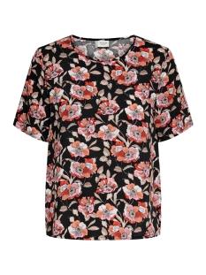Jacqueline de Yong T-shirt JDYSTARR LIFE S/S TOP WVN 15198129 Black/ETRUSCAN R