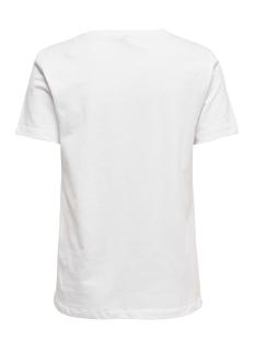 onlcaty life reg s/s animal top box 15199846 only t-shirt bright white/crocodile