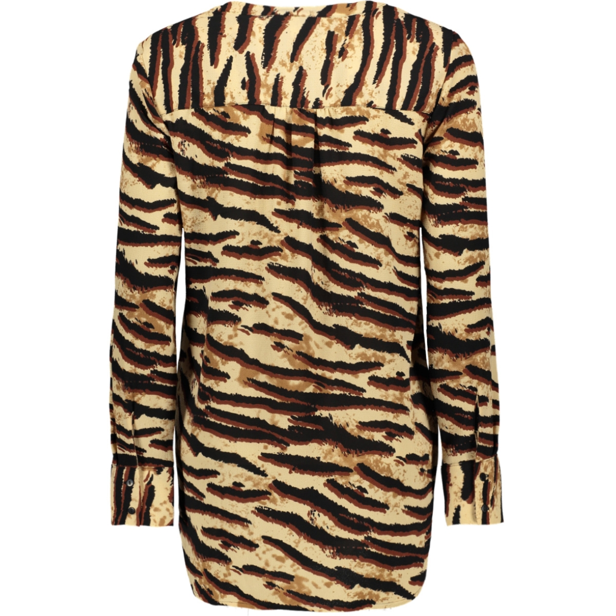 vmsaga ls tunic 10201931 vero moda blouse tobacco brown/tiffany
