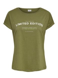 Jacqueline de Yong T-shirt JDYAGABE LIFE S/S PRINT TOP JRS 15195288 Martini Olibe