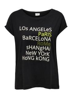Jacqueline de Yong T-shirt JDYAGABE LIFE S/S PRINT TOP JRS 15195288 Black