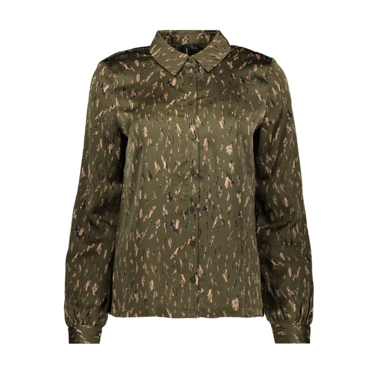 vmemilja l/s shirt exp 10237582 vero moda blouse ivy green/emilja