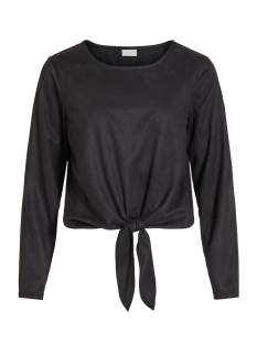 Vila T-shirt VISUELLA L/S TOP 14056952 Black