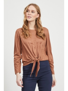 Vila T-shirt VISUELLA L/S TOP 14056952 Rawhide