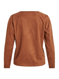 visuella l/s top 14056952 vila t-shirt rawhide
