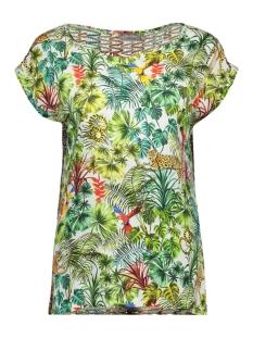 Geisha T-shirt TOP 93164 White/Green Combi