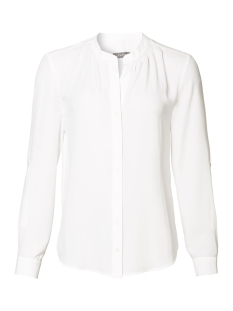 Geisha Blouse BLOUSE SOLID WITH SMOCK DETAIL 93504 Off-White