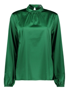Geisha Blouse SOLID TOP LS STRETCH SATIN 93584 Green