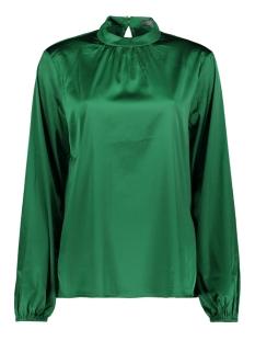 solid top ls stretch satin 93584 geisha blouse green
