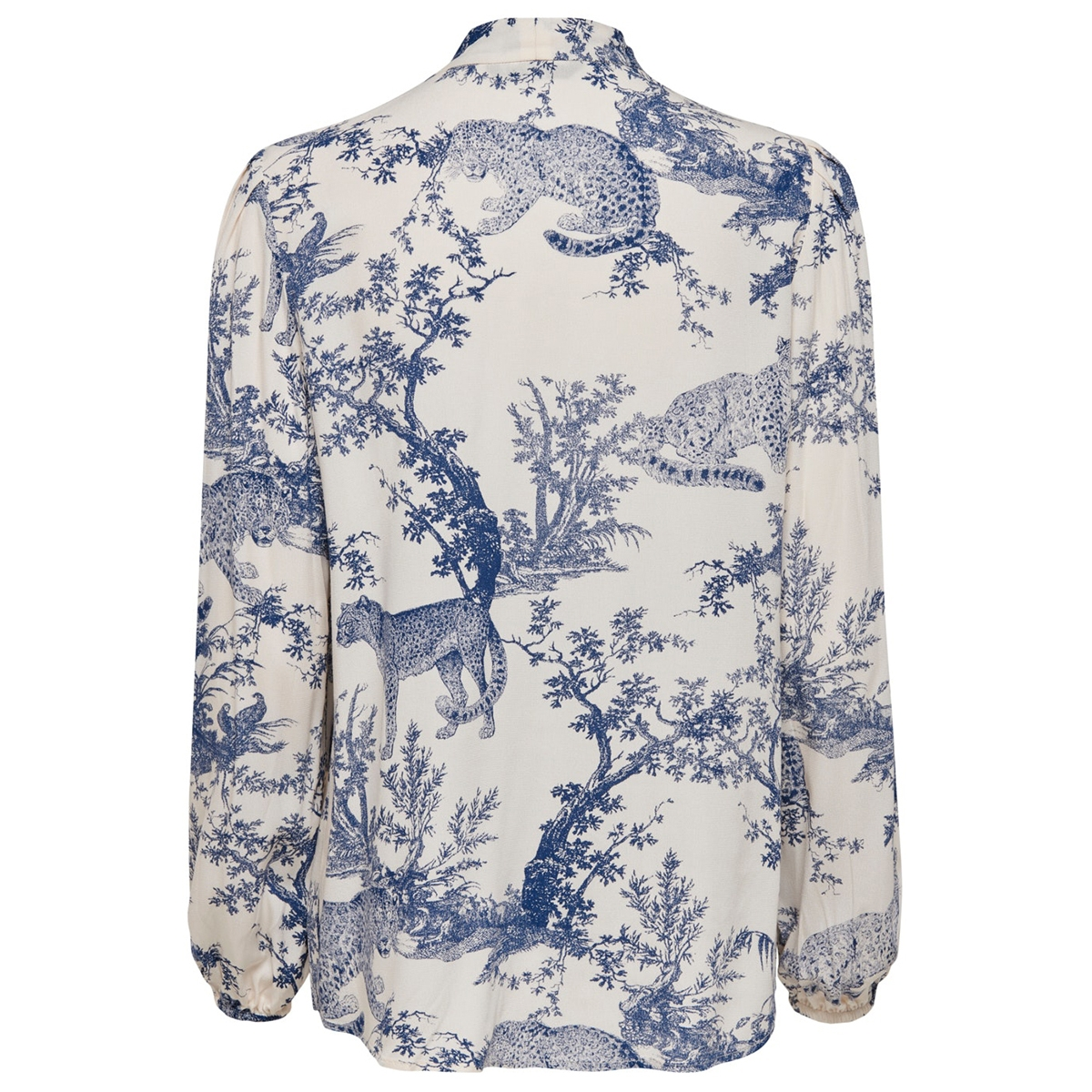 onqvika ls bow shirt wvn 15194397 only blouse white swan/animal blu