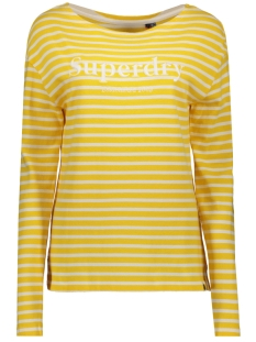 Superdry Trui BLAIR STRIPE TOP W6010052A GOLDEN ROD