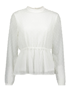 Vila Blouse VIROVERSA TIE L/S TOP 14056738 Whisper White