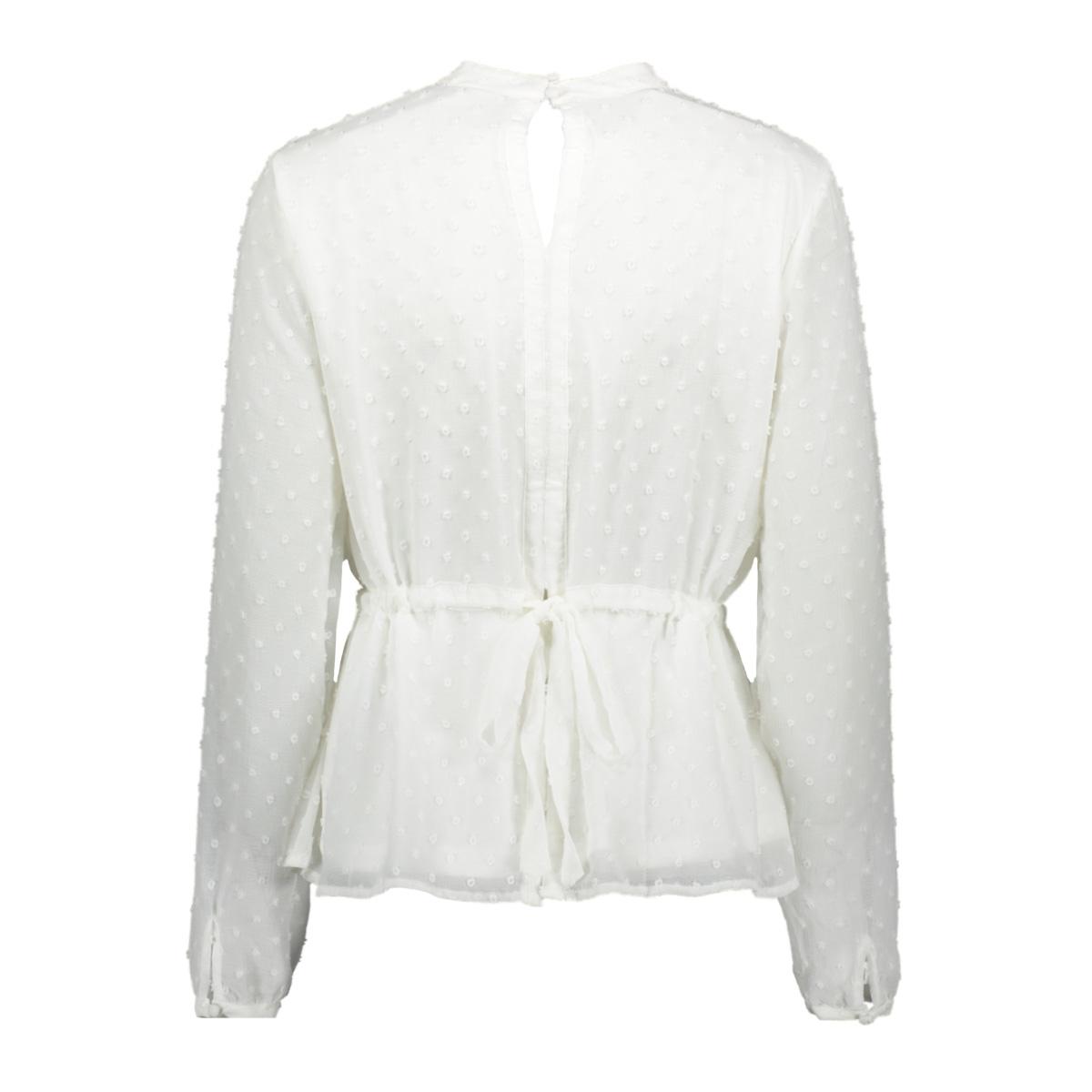 viroversa tie l/s top 14056738 vila blouse whisper white