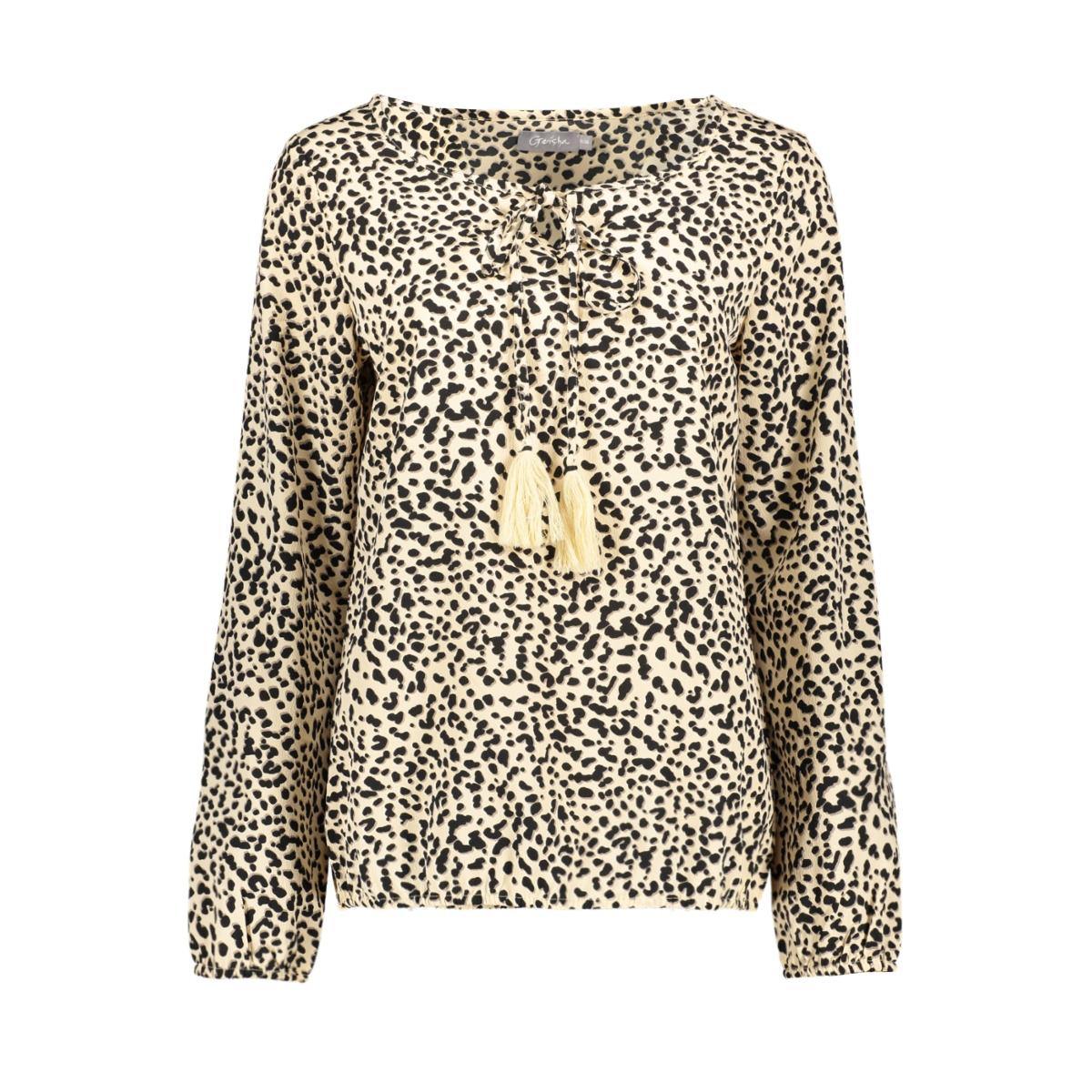 top leoprad cord tassels 0309121 geisha blouse sand/black