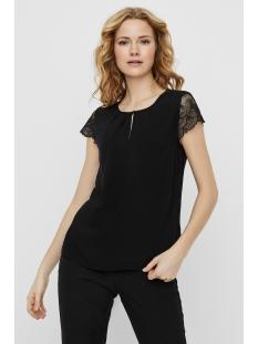 Vero Moda T-shirt VMNINA SS LACE TOP GA NOOS 10226821 Black