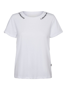 Noisy may T-shirt NMNATE S/S WOMENSDAY TOP BG 27011830 Bright White/WOMENSDAY