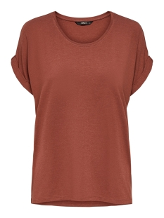Only T-shirt ONLMOSTER S/S O-NECK TOP NOOS JRS 15106662 Henna