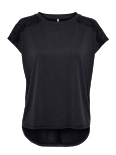 onlfree life s/s lace top jrs 15202646 only t-shirt black