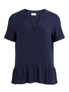 Vila T-shirt VILAUSA V-NECK S/S TOP/SU 14058035 Navy Blazer
