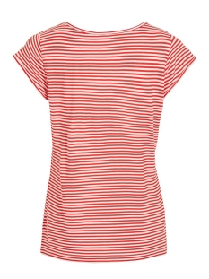 viscoop top - fav 14055569 vila t-shirt flame scarlet/white stripe