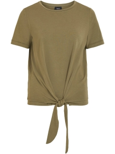 Object T-shirt OBJSTEPHANIE MAXWELL S/S TOP NOOS 23029269 Burnt Olive