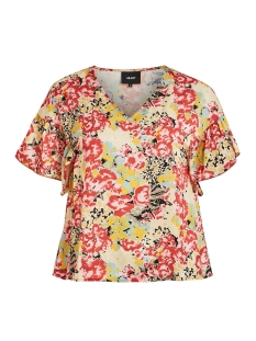 objjolly s/s top 108 23032200 object t-shirt tandori spice/multi color