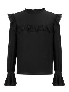 Ydence T-shirt KIKI TOP MET RUFFLE SSS2023 BLACK