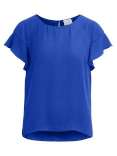 Vila T-shirt VILUCY S/S FLOUNCE TOP - FAV 14045856 Mazarine Blue