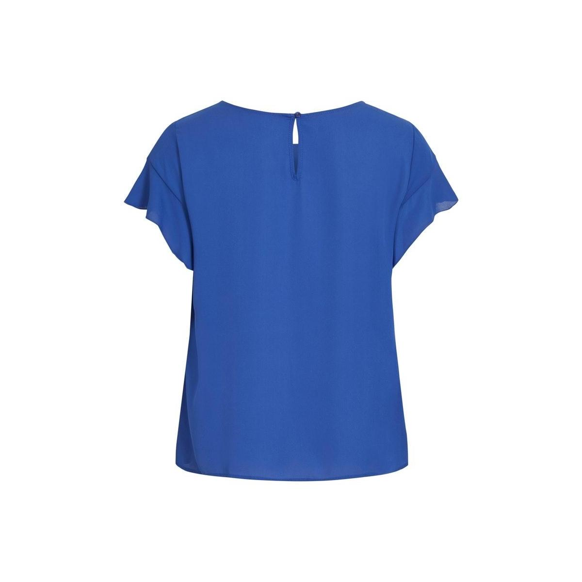 vilucy s/s flounce top - fav 14045856 vila t-shirt mazarine blue