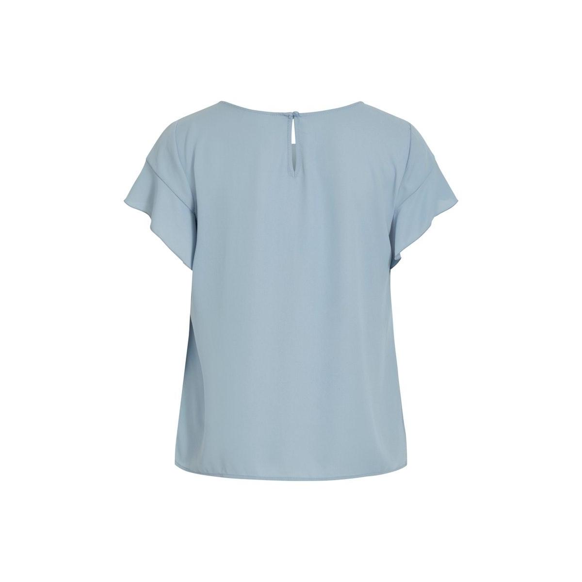 vilucy s/s flounce top - fav 14045856 vila t-shirt ashley blue