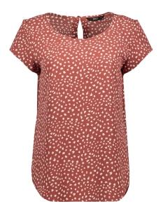 onlnova lux s/s top aop wvn 9 15199961 only t-shirt apple butter/spring dot