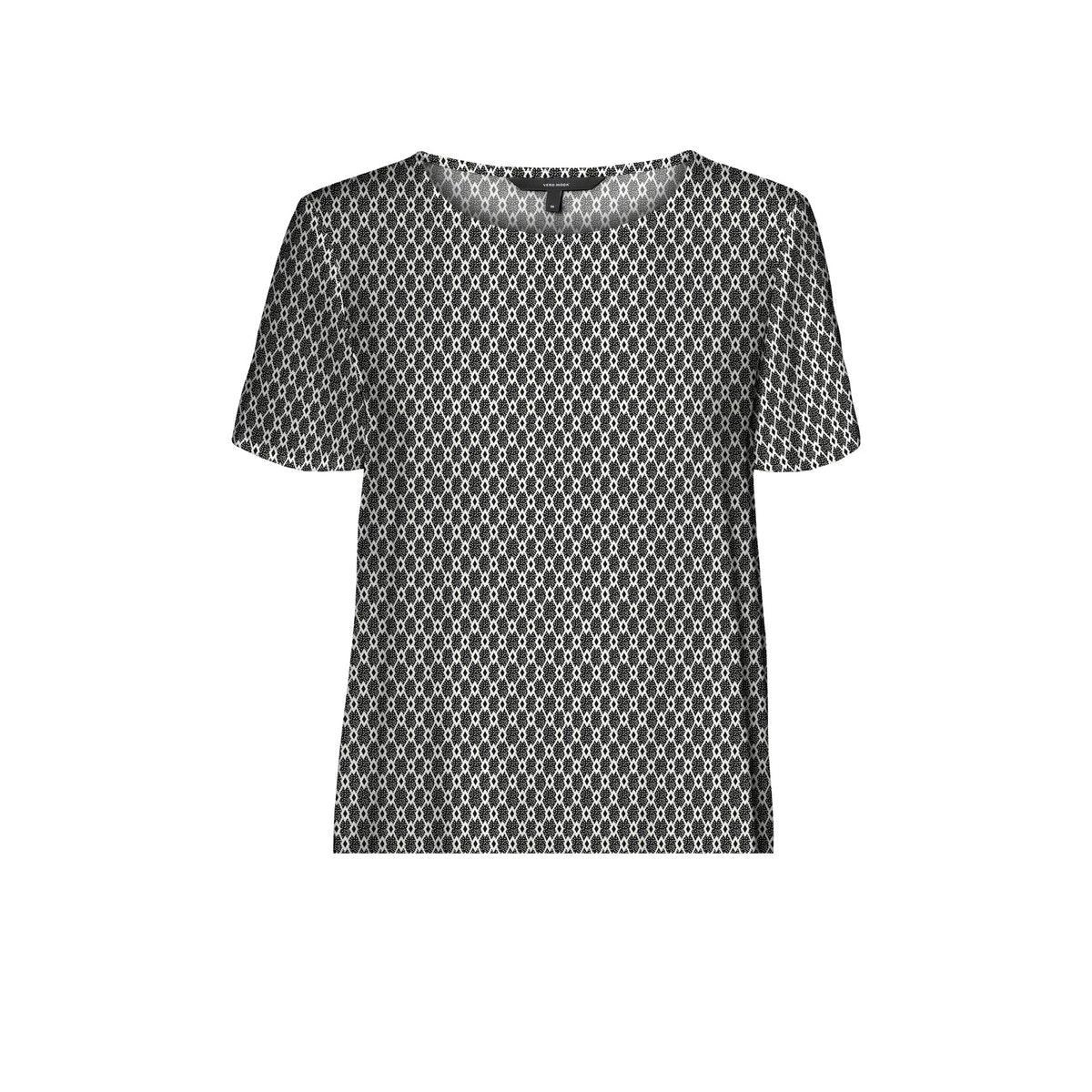 vmsimply easy ss top wvn ga 10227822 vero moda t-shirt black/felicia