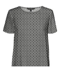 Vero Moda T-shirt VMSIMPLY EASY SS TOP WVN GA 10227822 Black/FELICIA
