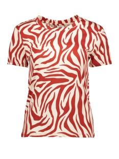 jdydiana life aop top jrs 15204477 jacqueline de yong t-shirt red ochre/redochre