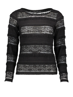Only T-shirt ONLMARJORIE L/S BOATNECK  TOP JRS 15202092 Black